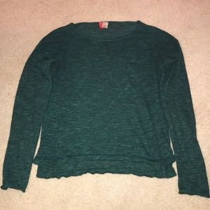 H&M Green Divided Green Sweater w Pockets : Size S